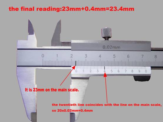 How to read metric vernier calipers