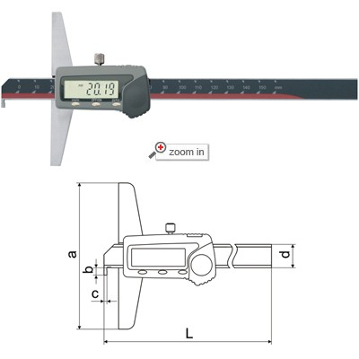 Single Hook Type Digital Depth Gauges