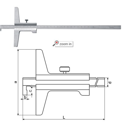 Vernier Depth Gauges (Single Hook Type)