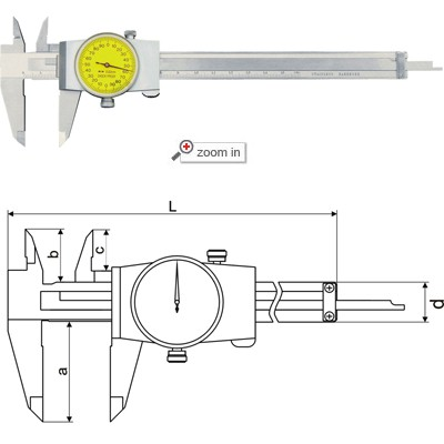 Dial Calipers(Mono Block Type B)