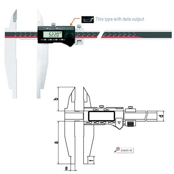Standard and Nib Jaws Digital Calipers (Max Range: 0-80 inch/2000mm)