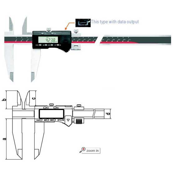 Digital Calipers With Nib Style And Standard Jaws (Max Range: 0-80 inch/2000mm)