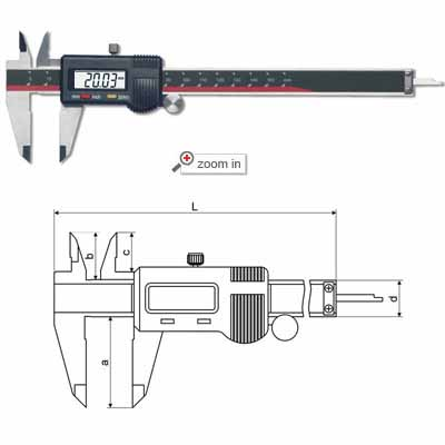 Two-key Standard Digital Calipers