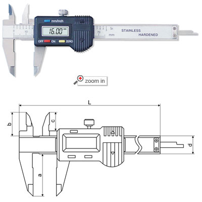 3 inch and 4 inch Digital Calipers