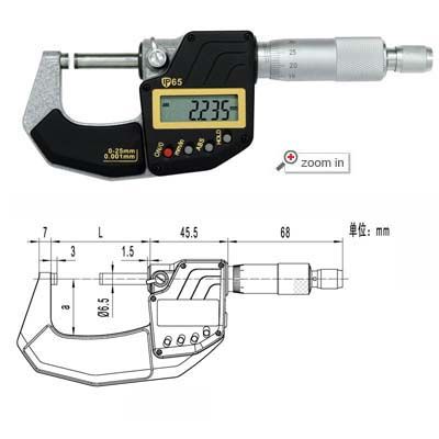 IP65 Digital Micrometers