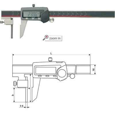Tube Thickness Type Digital Calipers