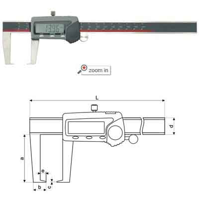 Outside Groove Digital Calipers With Flat Points