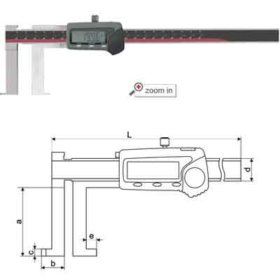 Knifepoint Inside Groove Digital Calipers