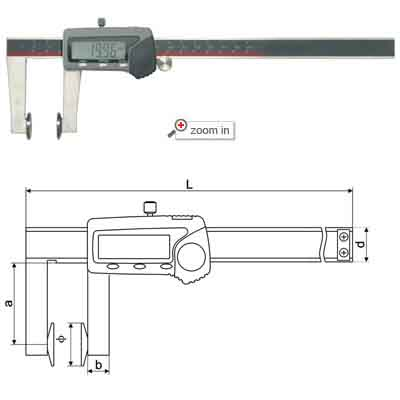 Plate Anvil Digital Calipers