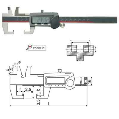 Universal Groove Digital Calipers