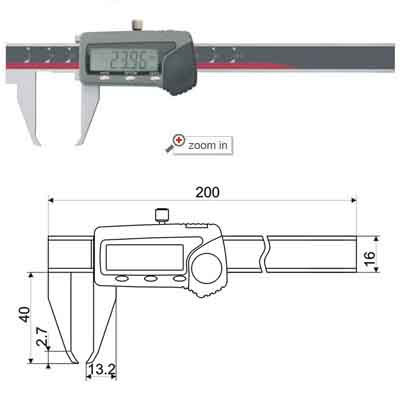 Special Outside Groove Digital Calipers