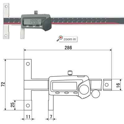Digital Calipers With Double Position Porule