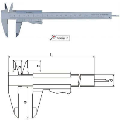 Thumb Clamp Vernier Calipers